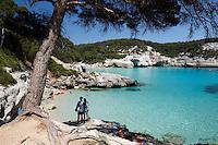 Spain, Menorca, near Cala Galdana: Cala Mitjana | Spanien, Menorca, bei Cala Galdana: Cala Mitjana