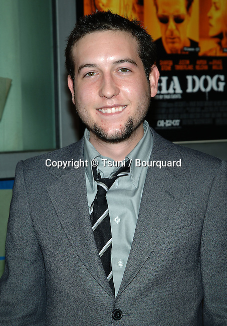 Christopher Marquette arriving at the ALPHA DOG Premiere at the Arclight Theatre in Los Angeles. January 3, 2007<br /> <br /> headshot<br /> eye contact