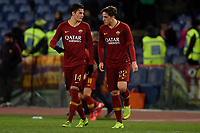 Patrik Schick and Nicolo Zaniolo of AS Roma talk during the Serie A 2018/2019 football match between AS Roma and Sassuolo at stadio Olimpico, Roma, December, 26, 2018 <br />  Foto Andrea Staccioli / Insidefoto