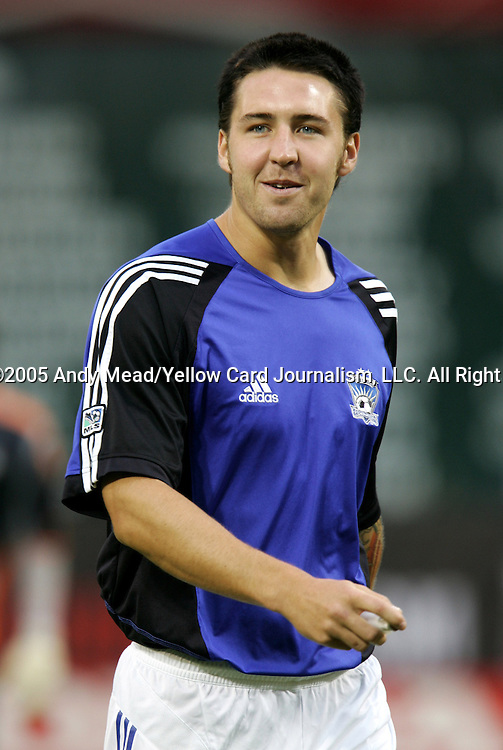 15 July 2005: Danny Califf. DC United defeated the San Jose Earthquakes 3-0 at RFK Stadium in Washington, DC in a regular season Major League Soccer game. .