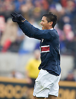 USA's Brian Ching celebrates after scoring against Guatemala in the first half of a 4-0 victory at Pizza Hut Park, in Frisco, Texas, Sunday, Feb. 19, 2006.