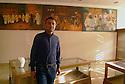 Iraq 2014<br />Kovan Khanki, researcher of Yezidi culture, in the Yezidi cultural centeof Duhok<br />Irak 2014<br />Kovan Khanki, specialiste des Yezidis, au centre culturel des Yezidis a Dohok