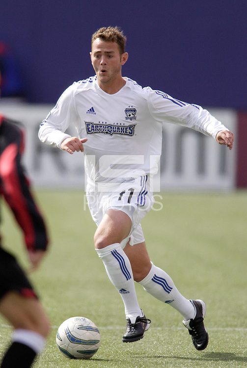 The EarthQuakes' Brad Davis. The San Jose EarthQuakes defeated the MetroStars 1 - 0 at Giant's Stadium, East Rutherford, NJ, on Saturday May 7, 2005.