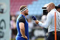 Henry Thomas of Bath Rugby is interviewed by Ben Kay for BT Sport. Gallagher Premiership match, between Harlequins and Bath Rugby on September 15, 2018 at the Twickenham Stoop in London, England. Photo by: Patrick Khachfe / Onside Images