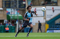 Side Jombati of Wycombe Wanderers in action during the Sky Bet League 2 match between Wycombe Wanderers and Hartlepool United at Adams Park, High Wycombe, England on 5 September 2015. Photo by Andy Rowland.