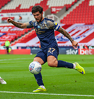 4th July 2020; Bet365 Stadium, Stoke, Staffordshire, England; English Championship Football, Stoke City versus Barnsley; Alex Mowatt of Barnsley clears the ball