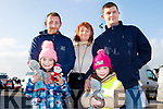 Front, Claudia&Liah Duffin, back, L-R Eric, Brenda&Gareth Duffin at the service in Ballyheigue last Sunday.