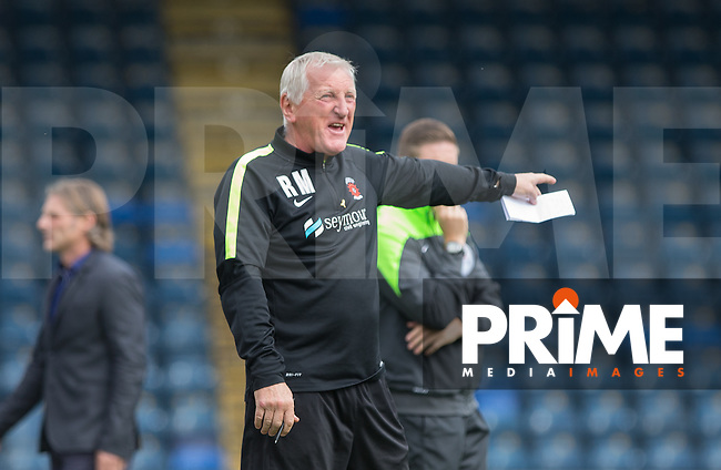 Ronnie Moore manager of Hartlepool United during the Sky Bet League 2 match between Wycombe Wanderers and Hartlepool United at Adams Park, High Wycombe, England on 5 September 2015. Photo by Andy Rowland.