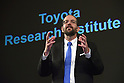November 6, 2015, Tokyo, Japan - Dr. Gill Pratt, a former Defense Advanced Research Projects Agency program manager, speaks during a news conference at a Tokyo hotel on Friday, November 6, 2015. Dr. Pratt will head Toyotas new research and development center in Californias Silicon Valley. The worlds largest automaker will invest one billion dollars over the next five years to the Toyota Research Institute to focus on artificial intelligence and robotics.  (Photo by Natsuki Sakai/AFLO) AYF -mis-