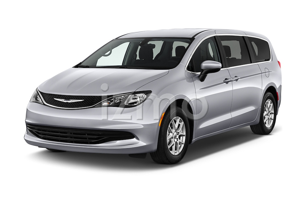 2017 Chrysler Pacifica LX 5 Door Minivan Angular Front stock photos of front three quarter view