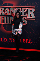 "LOS ANGELES - JUN 28:  Kumari at the ""Stranger Things"" Season 3 World Premiere at the Santa Monica High School on June 28, 2019 in Santa Monica, CA"