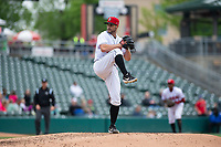 Indianapolis Indians relief pitcher Tyler Lyons (49) during an International League game against the Columbus Clippers on April 30, 2019 at Victory Field in Indianapolis, Indiana. Columbus defeated Indianapolis 7-6. (Zachary Lucy/Four Seam Images)