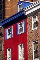 Amérique/Amérique du Nord/USA/Etats-Unis/Vallée du Delaware/Pennsylvanie/Philadelphie : Quartier des antiquaires sur Pine Street - Façade sur 10 ST