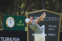 Lucas Bjerregaard (DEN) in action during the third round of the Turkish Airlines Open, Montgomerie Maxx Royal Golf Club, Belek, Turkey. 09/11/2019<br /> Picture: Golffile | Phil INGLIS<br /> <br /> <br /> All photo usage must carry mandatory copyright credit (© Golffile | Phil INGLIS)