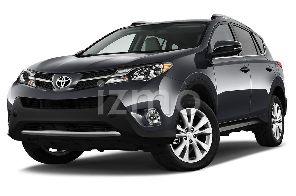 Stock pictures of low aggressive front three quarter view of a 2013 Toyota rav4 limited Select Doors Door SUV