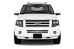 Car photography straight front view of a 2014 Ford Expedition Limited EL 5 Door SUV Front View