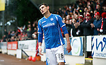 St Johnstone v Aberdeen...06.02.16   SPFL   McDiarmid Park, Perth<br /> Graham Cummins reacts after putting his shot wide<br /> Picture by Graeme Hart.<br /> Copyright Perthshire Picture Agency<br /> Tel: 01738 623350  Mobile: 07990 594431