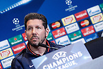 Atletico de Madrid's coach Diego Pablo Simeone in press conference  after Champions League 2015/2016 Semi-Finals 1st leg match. April 26,2016. (ALTERPHOTOS/Acero)