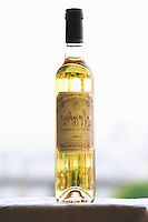Bottle of Chateau d'Aydie Pacherenc du Vic Bilh sweet white wine Madiran France