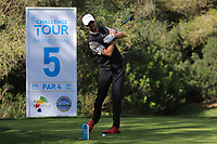 Will Besseling (NED) on the 5th tee during Round 3 of the Challenge Tour Grand Final 2019 at Club de Golf Alcanada, Port d'Alcúdia, Mallorca, Spain on Saturday 9th November 2019.<br /> Picture:  Thos Caffrey / Golffile<br /> <br /> All photo usage must carry mandatory copyright credit (© Golffile | Thos Caffrey)