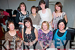 NIGHT OUT: Ladies who work at Kellihers Toyota, Rathass, Tralee who finally managed to get everyone together for a well deserved night out in Cassidy's restaurant, Abbey Sq, Tralee last Friday night, seated l-r: Theresa Madden, Jamie Bowler, Myra Sheehy and Yvonne McMahon. Back l-r: Bridget Walsh, Josephine O'Leary, Francis Ryan and Kata Torok.