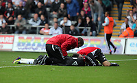 Pictured: Nathan Dyer of Swansea City. Saturday 17 September 2011<br /> Re: Premiership football Swansea City FC v West Bromwich Albion at the Liberty Stadium, south Wales.