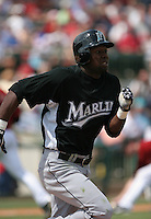 Alejandro De Aza of the Florida Marlins vs. the Houston Astros March 15th, 2007 at Osceola County Stadium in Kissimmee, FL during Spring Training action.  Photo By Mike Janes/Four Seam Images