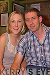 Niamh McCarthy from Woodville and Derek Galvin from Greenville got engaged on Wensday (12/08/09) pictured in John B Keane's, Listowel