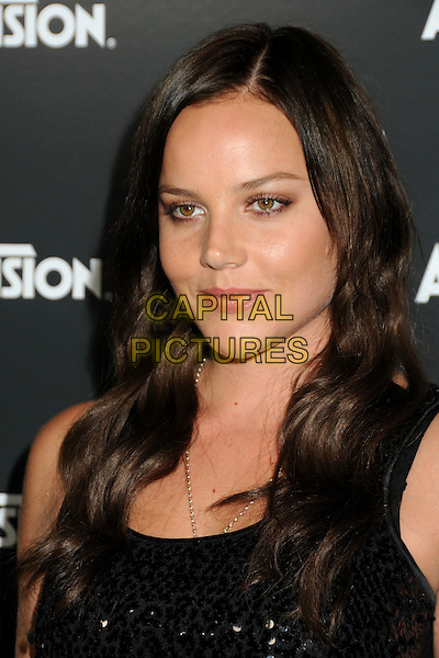 ABBIE CORNISH.Activision E3 2010 Preview Event held at the Staples Center, Los Angeles, California, USA..June 14th, 2010.headshot portrait black .CAP/ADM/BP.©Byron Purvis/AdMedia/Capital Pictures.