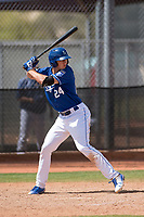 Kansas City Royals third baseman Travis Jones (24) during a Minor League Spring Training game against the Milwaukee Brewers at Maryvale Baseball Park on March 25, 2018 in Phoenix, Arizona. (Zachary Lucy/Four Seam Images)