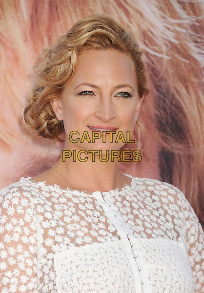 Zoe Bell<br /> at the Los Angeles Premiere of &quot;The Internship&quot; at Regency Village Theatre in Westwood, California, USA, May 29th, 2013.<br /> portrait headshot white  flowers sheer <br /> CAP/ROT/TM<br /> &copy;Tony Michaels/Roth Stock/Capital Pictures