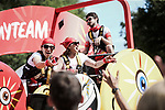 The publicity caravan on the Champs-Elysees during Stage 21 of the 2019 Tour de France running 128km from Rambouillet to Paris Champs-Elysees, France. 28th July 2019.<br /> Picture: ASO/Pauline Ballet | Cyclefile<br /> All photos usage must carry mandatory copyright credit (© Cyclefile | ASO/Pauline Ballet)