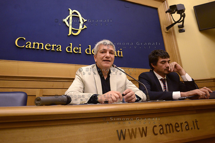 Roma, 1 Giugno 2015<br /> Nichi Vendola e Nicola Fratoianni.<br /> Conferenza stampa SEL sulle elezioni Regionali