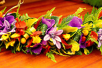 Haku lei, given on special occasions and worn as a crown