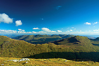 The Luss Hills from Ben Donich, the Arrochar Alps, Loch Lomond and the Trossachs National Park, Argyll & Bute