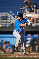 Hudson Valley Renegades left fielder Landon Cray (2) at bat during a game against the Batavia Muckdogs on August 2, 2016 at Dwyer Stadium in Batavia, New York.  Batavia defeated Hudson Valley 2-1.  (Mike Janes/Four Seam Images)