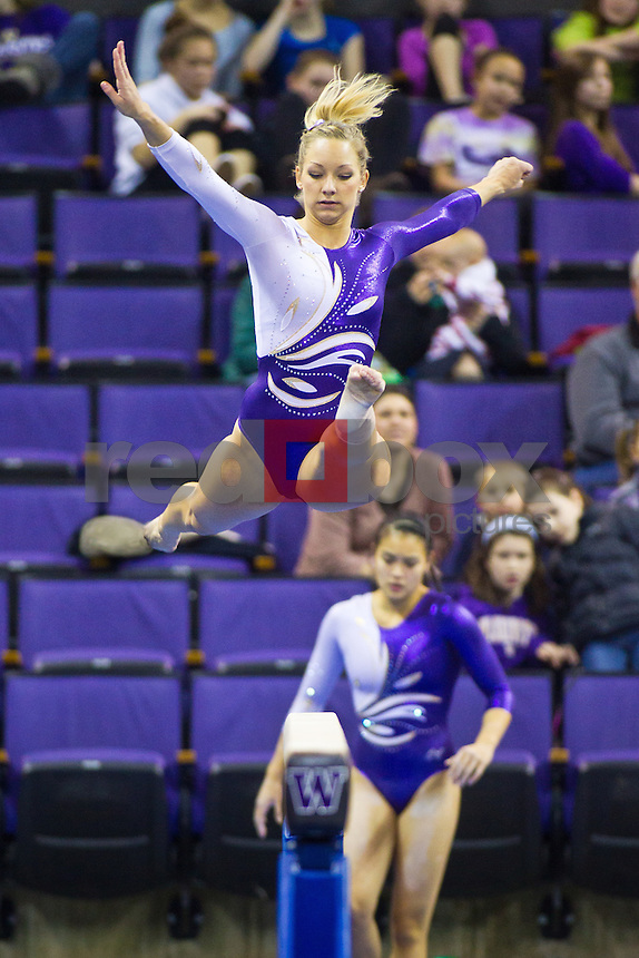 Paige Bixler - The University of Washington gymnasticsA team competes in their annual intrasquad meet at Alaska Airlines Arena Saturday, Dec. 11, 2011. (Photography by Andy Rogers/Red Box Pictures)
