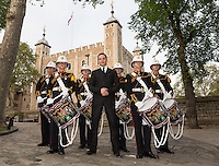 Royal Marines drum roll record at the Tower of London