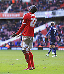 Kenneth Omerou of Middlesbrough rues missing his last minute shot on goal - Middlesbrough vs. Leeds United - Skybet Championship - Riverside Stadium - Middlesbrough - 21/02/2015 Pic Philip Oldham/Sportimage