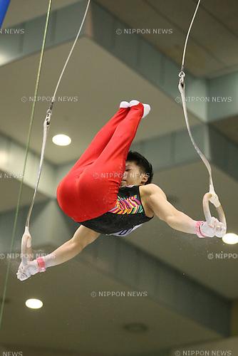 Shogo Nonomura, <br /> JULY 6, 2014 - Artistic Gymnastics : The 68th All Japan Artistic Gymnastics Apparatus Championship, Men's Gymnastic rings at Chiba Port Arena, Chiba, Japan. (Photo by Yohei Osada/AFLO SPORT)