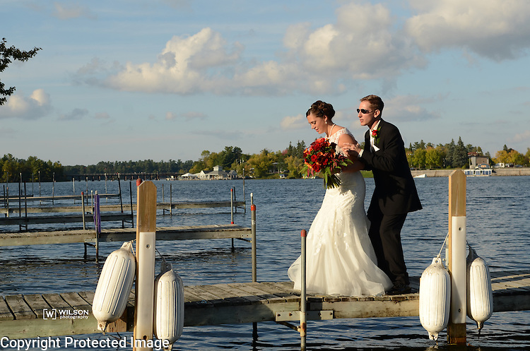 Wedding of Chris and Kristine Bruno at The Waters in Minocqua, Wis., on September 20, 2014.
