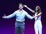 Andy Karl and Samantah Barks during the Curtain Call for the Garry Marshall Tribute Performance of 'Pretty Woman:The Musical' at the Nederlander Theatre on August 2, 2018 in New York City.