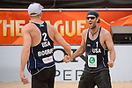 02.07.2015, Den Haag, Hofvijver Stadion<br /> World Championships / Weltmeisterschaft 2015, 2. K.O. Runde<br /> <br /> Jubel Tri Bourne (#2 USA), John Hyden (#1 USA) nach Sieg<br /> <br />   Foto © nordphoto / Kurth