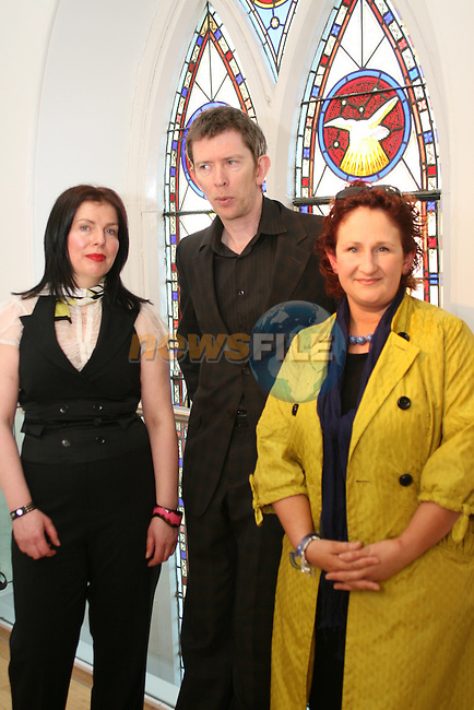 Artist, Diana Copperwhite with John Kelly and Aoife Ruane at the Opening of the Arts Festival in The Highlanes Gallery...Photo NEWSFILE/Jenny Matthews.(Photo credit should read Jenny Matthews/NEWSFILE)....This Picture has been sent you under the condtions enclosed by:.Newsfile Ltd..The Studio,.Millmount Abbey,.Drogheda,.Co Meath..Ireland..Tel: +353(0)41-9871240.Fax: +353(0)41-9871260.GSM: +353(0)86-2500958.email: pictures@newsfile.ie.www.newsfile.ie.FTP: 193.120.102.198.
