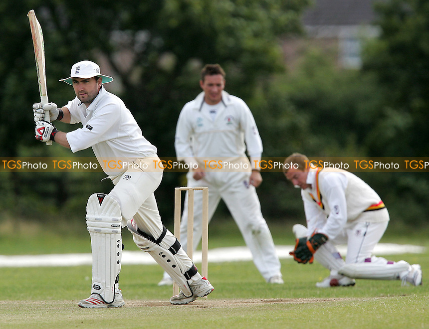 Pegasus keeper Jenkins takes the ball after M Guilbert lets it pass - Belhus vs Pegasus & Corringham CC - Essex Sunday Cricket League at North Stifford - 28/07/07 - MANDATORY CREDIT: Gavin Ellis/TGSPHOTO - SELF-BILLING APPLIES WHERE APPROPRIATE. NO UNPAID USE. TEL: 0845 094 6026..