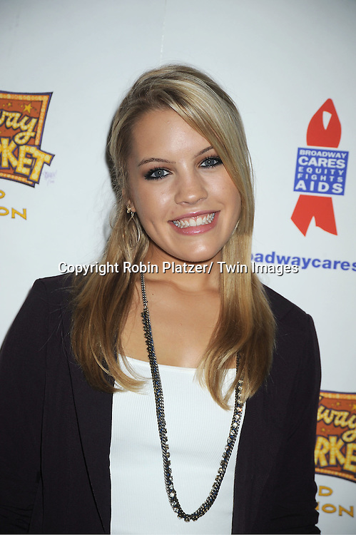 Kristen Alderson attends the 25th Annual Broadway Flea Market and Grand Auction benefiting Broadway Cares/ Equity Fights Aids on September 25, 2011 at Shubert Alley.