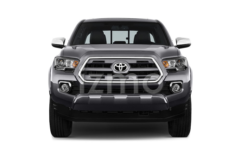 Car photography straight front view of a 2016 Toyota Tacoma Limited 4 Door Pickup Front View