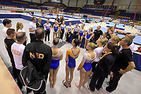 TURNEN: HEERENVEEN: 08-07-2018, Dutch Gymnastics, Gerben Wiersma en Vincent Wevers evalueren met de groep Topturners na afloop van de wedstrijden, ©foto Martin de Jong