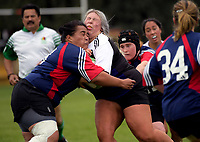 Action from the Manawatu women's club rugby Tri-Series at Linton Army Camp in Palmerston North, New Zealand on Saturday, 5 May 2018. Photo: Dave Lintott / lintottphoto.co.nz