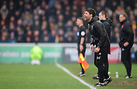 Lincoln City manager Danny Cowley shouts instructions to his team from the technical area<br /> <br /> Photographer Chris Vaughan/CameraSport<br /> <br /> The EFL Sky Bet League Two - Lincoln City v Mansfield Town - Saturday 24th November 2018 - Sincil Bank - Lincoln<br /> <br /> World Copyright &copy; 2018 CameraSport. All rights reserved. 43 Linden Ave. Countesthorpe. Leicester. England. LE8 5PG - Tel: +44 (0) 116 277 4147 - admin@camerasport.com - www.camerasport.com